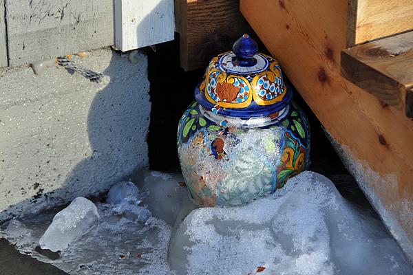 pot-in-snow