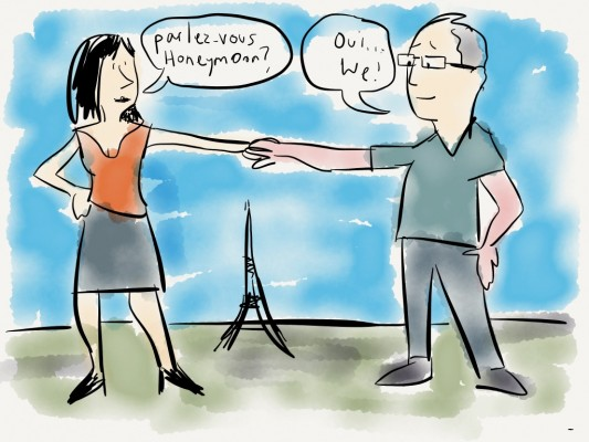 Paris Honeymoon cartoon