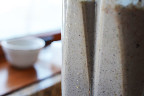 Buckwheat pancake batter in Vitamix