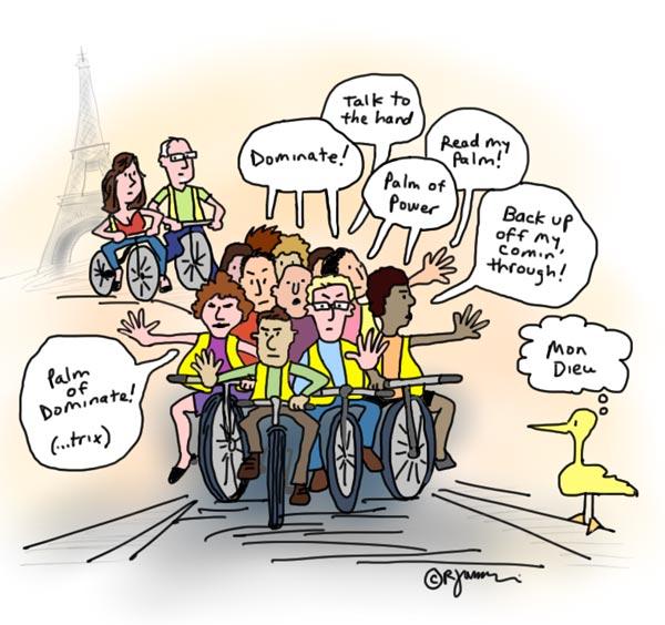 Cartoon Riding a Bike