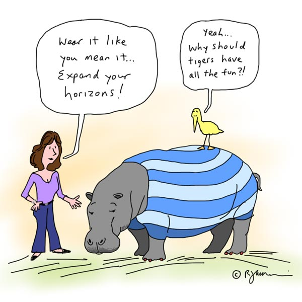 horizontal stripes cartoon