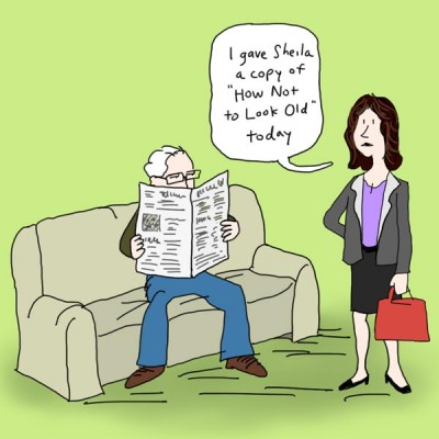 How Not To Look Old cartoon 1of3
