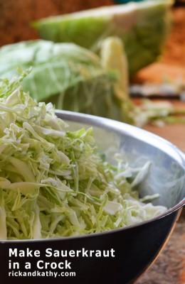 Make Sauerkraut in a Crock | rickandkathy.com
