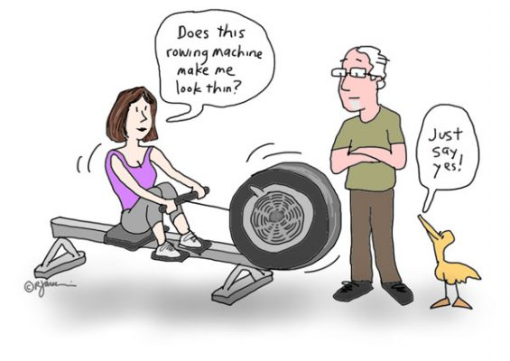 correct way to use a rowing machine